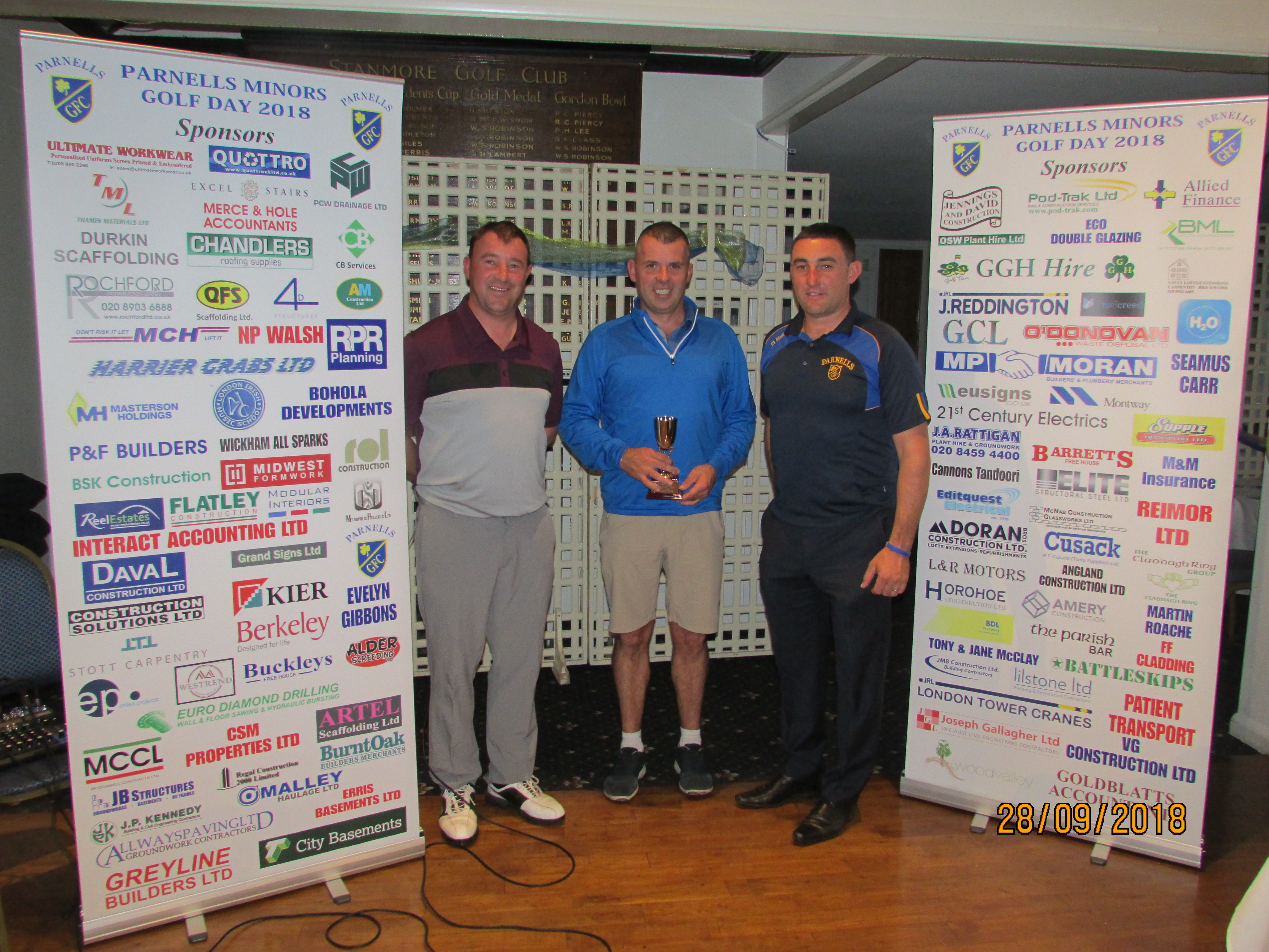 Parnells Youth Golf Day Winners (28.9.2018)