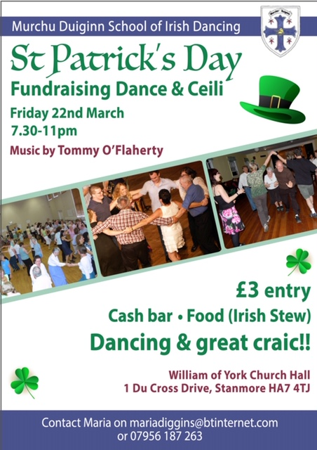 Community Event 22.3.2019 Fundraising Dance and Ceili